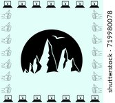 mountain icon  rocks vector... | Shutterstock .eps vector #719980078