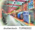 scenery of chinatown market... | Shutterstock . vector #719982022