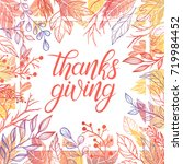 thanksgiving typography.hand... | Shutterstock .eps vector #719984452