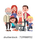 happy big family. grandmother... | Shutterstock .eps vector #719988952