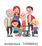 happy big family. grandmother... | Shutterstock .eps vector #719988952