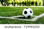 soccer football on corner kick...   Shutterstock . vector #719992252