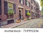 boston ma  usa   august 28 2017 ... | Shutterstock . vector #719992336