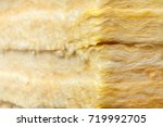 mineral wool  or mineral fiber  ... | Shutterstock . vector #719992705