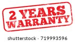 2 years warranty stamp | Shutterstock .eps vector #719993596