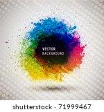 colorful ink splash banner.