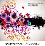 grunge floral background. eps10 | Shutterstock .eps vector #71999482