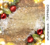 christmas holiday background...   Shutterstock . vector #719998642