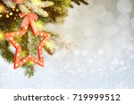 holiday christmas background    Shutterstock . vector #719999512