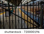 gate is closed to the train... | Shutterstock . vector #720000196
