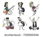 rock music band set. music...   Shutterstock .eps vector #720000346