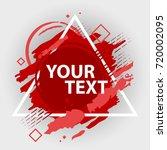 grunge splash banner with... | Shutterstock .eps vector #720002095