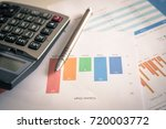 hand woman doing finances and... | Shutterstock . vector #720003772