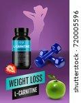 weight loss l carnitine ads.... | Shutterstock .eps vector #720005596