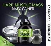 mass gainer ads. vector... | Shutterstock .eps vector #720005635