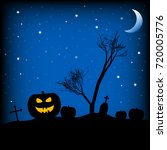 holiday poster for halloween... | Shutterstock . vector #720005776