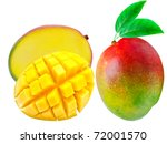 mango isolated on white... | Shutterstock . vector #72001570