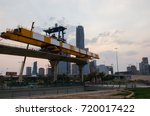 metro train building process in ... | Shutterstock . vector #720017422