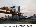 metro train building process in ... | Shutterstock . vector #720017422