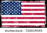 grunge usa flag.vintage... | Shutterstock .eps vector #720019045