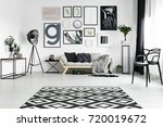 Black And White Carpet Lying O...