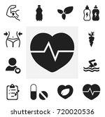 set of 12 editable exercise... | Shutterstock .eps vector #720020536