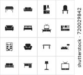 set of 16 editable furnishings...