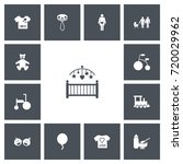 set of 13 editable baby icons....