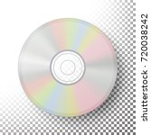 dvd disc vector. realistic... | Shutterstock .eps vector #720038242