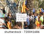 barcelona  catalonia  spain ... | Shutterstock . vector #720041686