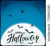abstract blue halloween... | Shutterstock .eps vector #720042382