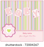 greeting card to mark the... | Shutterstock .eps vector #72004267