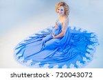 pregnant in christmas...   Shutterstock . vector #720043072