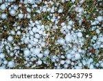 Hailstones On Grass  Hail...