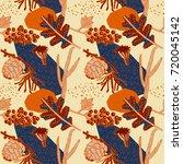 decorative seamless pattern ... | Shutterstock .eps vector #720045142