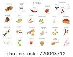 spices illustrations set | Shutterstock . vector #720048712