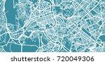 detailed vector map of rome ... | Shutterstock .eps vector #720049306
