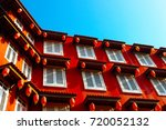 the chinese style red building... | Shutterstock . vector #720052132