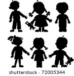 children | Shutterstock .eps vector #72005344