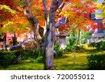 enkouji is autumn a beautiful... | Shutterstock . vector #720055012