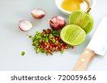 thai fish sauce three taste. is ... | Shutterstock . vector #720059656