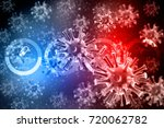 3d rendering virus bacteria... | Shutterstock . vector #720062782
