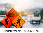 set of under construction and... | Shutterstock . vector #720063226