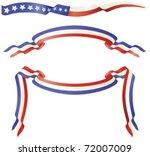 usa red white blue banner flags | Shutterstock .eps vector #72007009