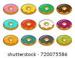 cartoon donuts | Shutterstock .eps vector #720075586