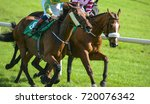 two horses and jockeys... | Shutterstock . vector #720076342