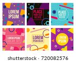 memphis style cards with... | Shutterstock .eps vector #720082576