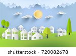 the sun shines so brightly... | Shutterstock .eps vector #720082678