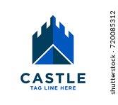 blue castle logo design | Shutterstock .eps vector #720085312