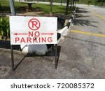 no parking signboard was placed ... | Shutterstock . vector #720085372